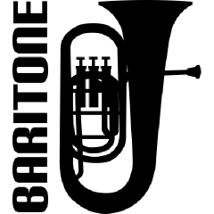 Marching baritone clipart.