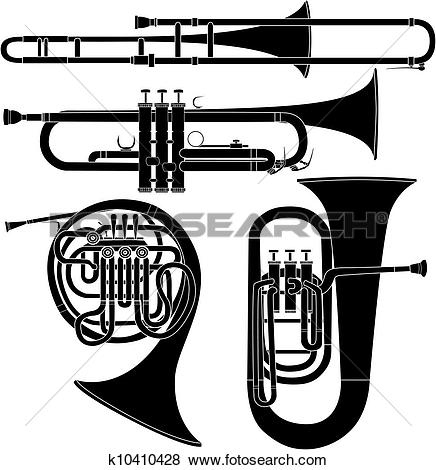 Clipart of Wind Instruments k13869434.