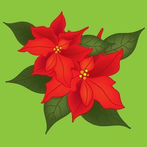 Free Poinsettia Clip Art Image.