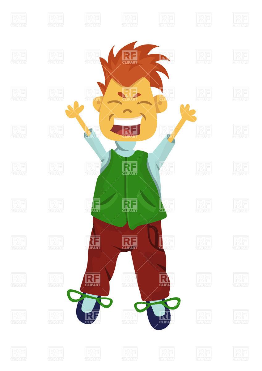 Happy jumping boy Vector Image #25884.