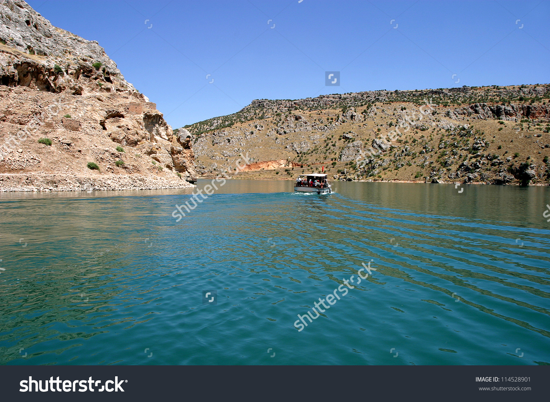 River Boat Euphrates River Firat Halfeti Stock Photo 114528901.