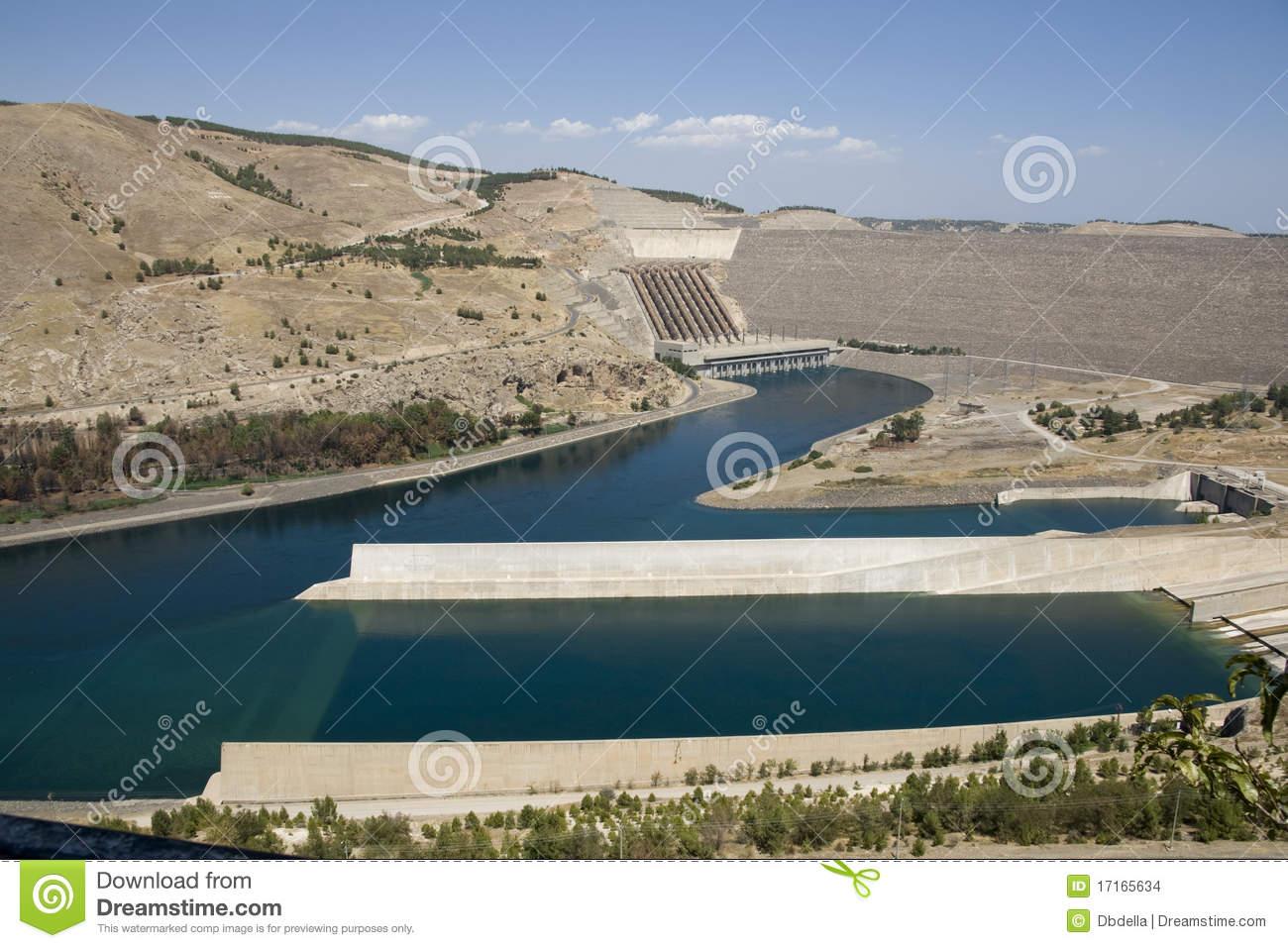 Ataturk Dam On The Euphrates River.