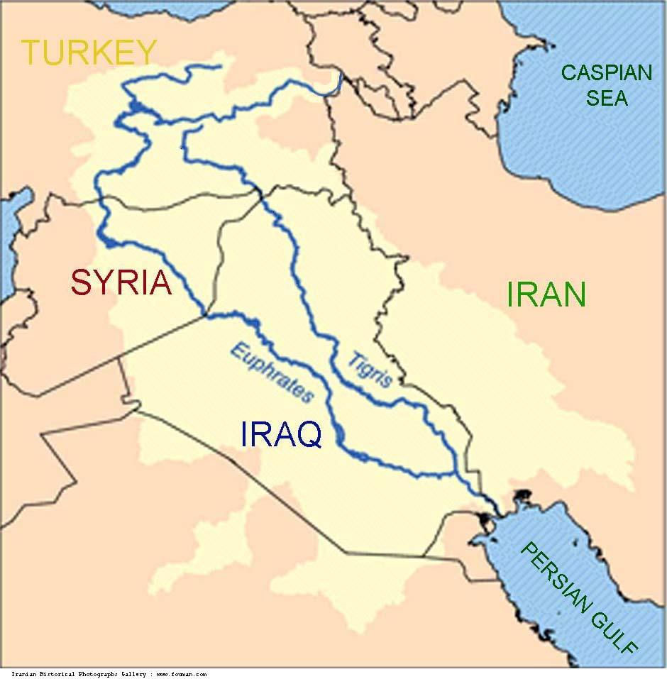 Tigris river map clipart.