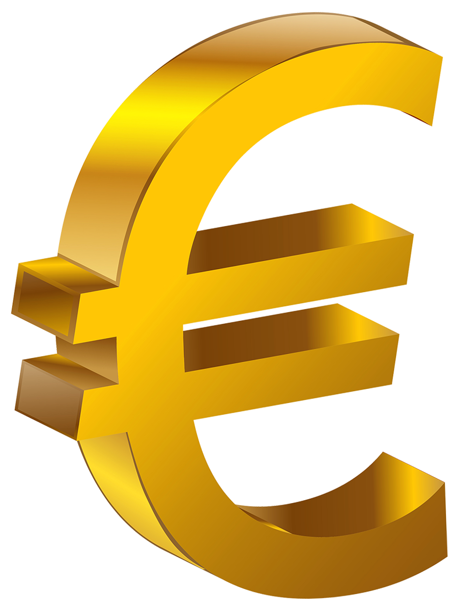 Transparent Gold Euro PNG Clipart.