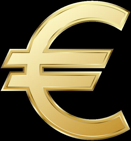 Euro Symbol PNG Clip Art Image.