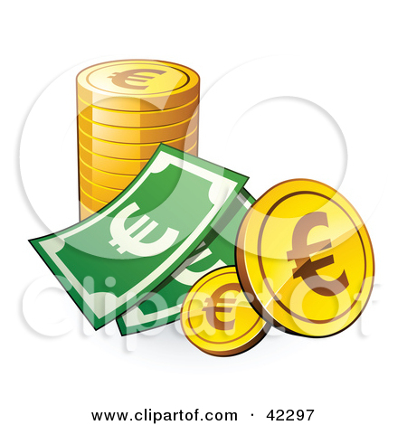 Euro money clip art.