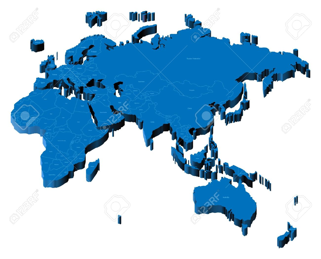 Clipart europe asia map.