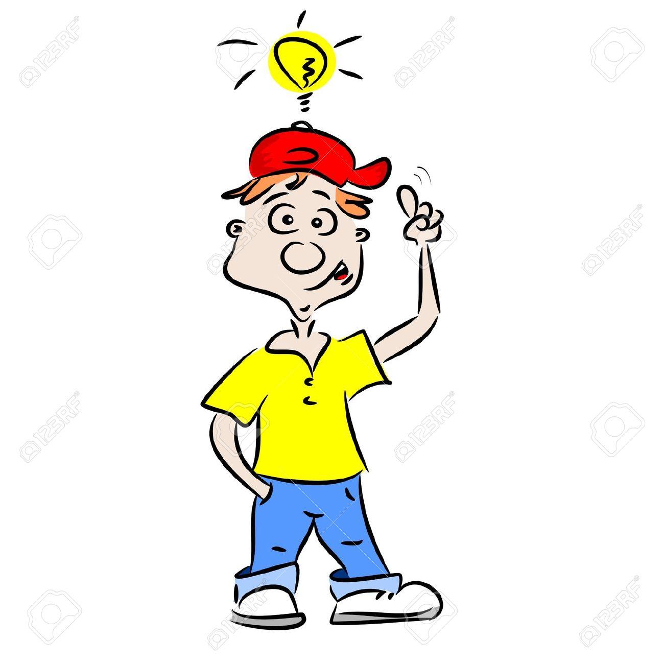 A Cartoon Boy With A Good Idea Royalty Free Cliparts, Vectors, And.