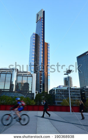 Eureka Tower Stock Photos, Royalty.