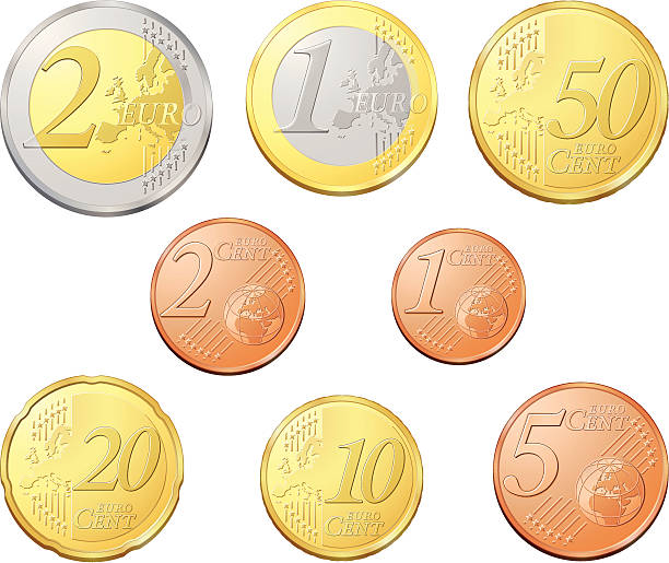 Best Euro Coin Illustrations, Royalty.