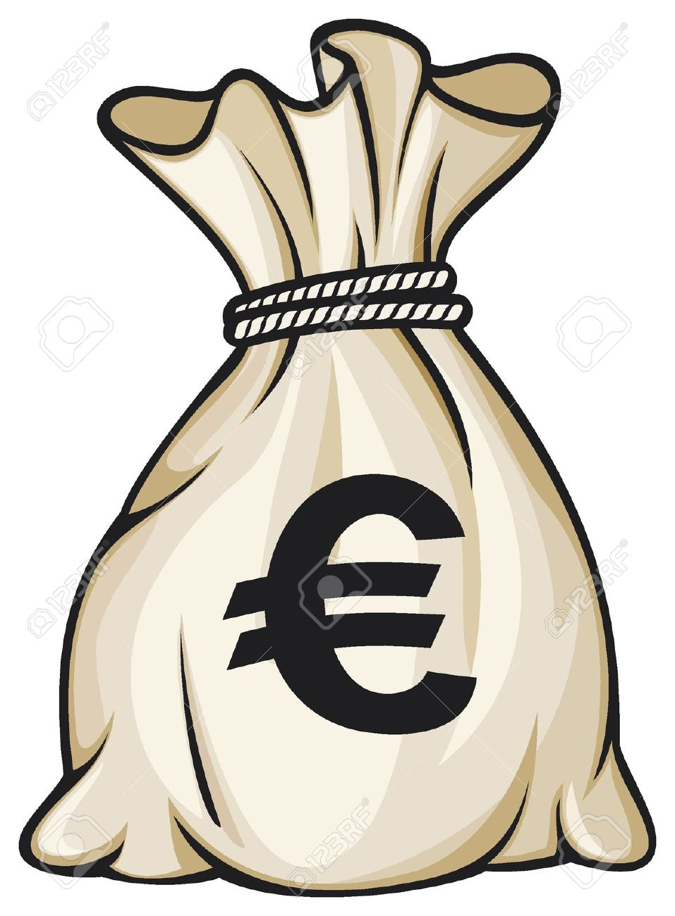 Geldsack euro clipart.