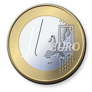 One Euro Coin Clipart, vector clip art online, royalty free design.