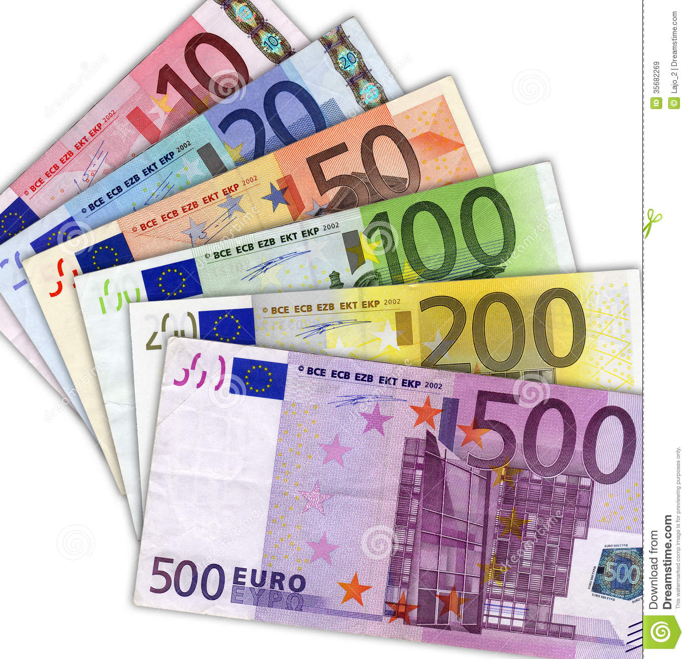 Euro Banknotes Royalty Free Stock Images.
