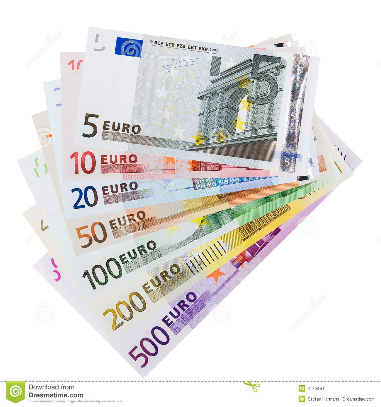 Notes & Euro Coins Clipart, Euro Bill Free Clipart.