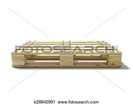 Clipart of Euro pallet. Side view k28642991.