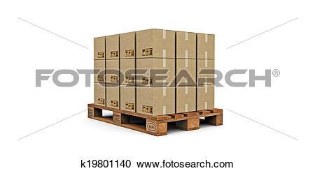 Stock Illustrations of euro pallet k19801140.