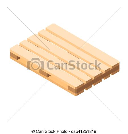 Vector Clip Art of Euro pallet isometric vector illustration of.