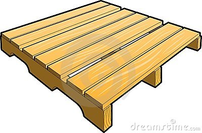 Free wooden pallet clipart.