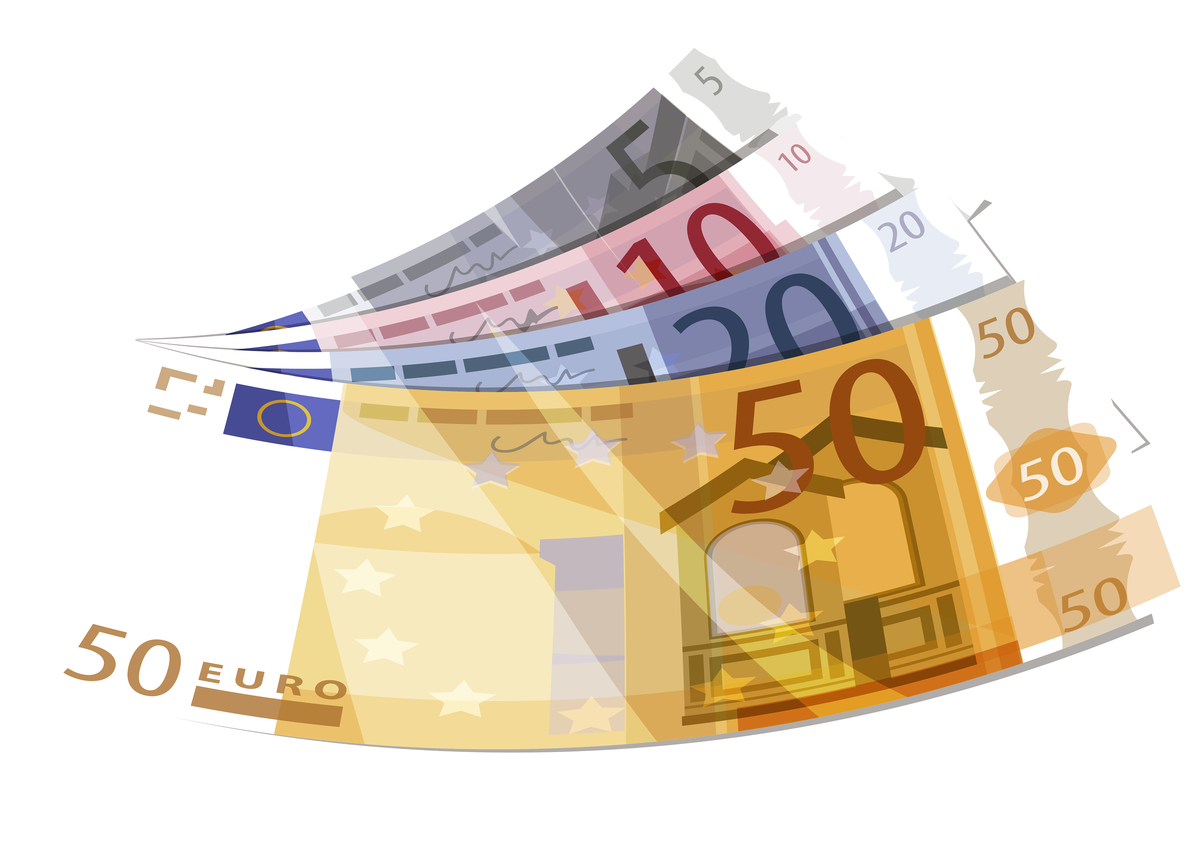 Euro PNG Clipart.