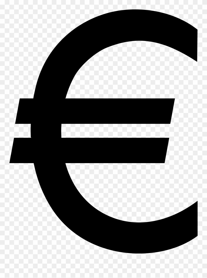 Euro Sign Black Clip Art Sweet.