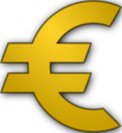 Euro Sign clip art Free Vector.