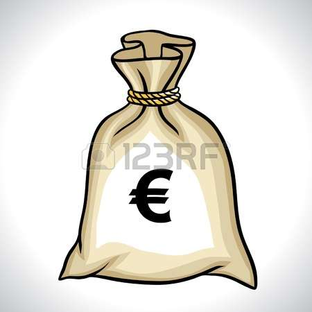 4,329 Money Bag With Euro Symbol Stock Vector Illustration And.