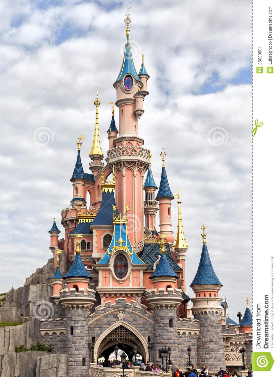 Disneyland Paris Castle Editorial Photo.