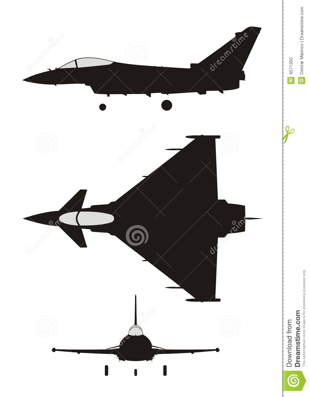 Euro Fighter Stock Photo.