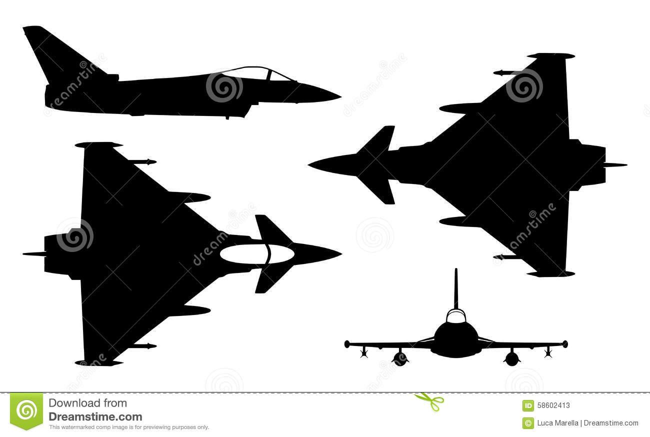 Eurofighter Stock Vector.