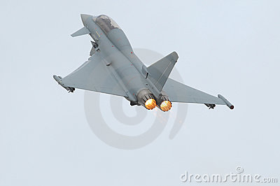Eurofighter (Typhoon) With Afterburner Royalty Free Stock Photos.