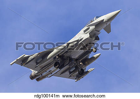 Stock Photo of A Eurofighter Typhoon FGR4 of the Royal Air Force.
