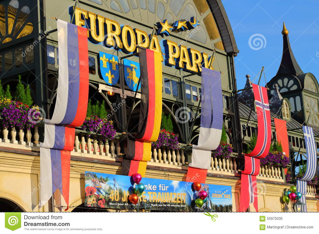 Entrance Of Europa Park In Rust, Germany. Editorial Stock Image.