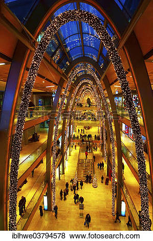 "Pictures of ""Christmas decorations in the Europa Passage shopping."