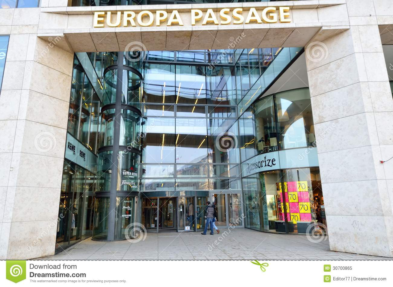 Entrance Of Luxury Shopping Center In Germany Editorial Image.