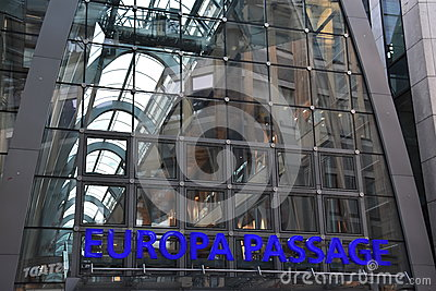 Luxury Shopping Center In Hamburg, Germany Editorial Image.
