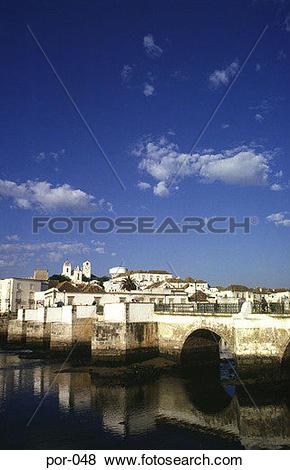 Pictures of Roman Bridge Tavira Portugal Europe por.