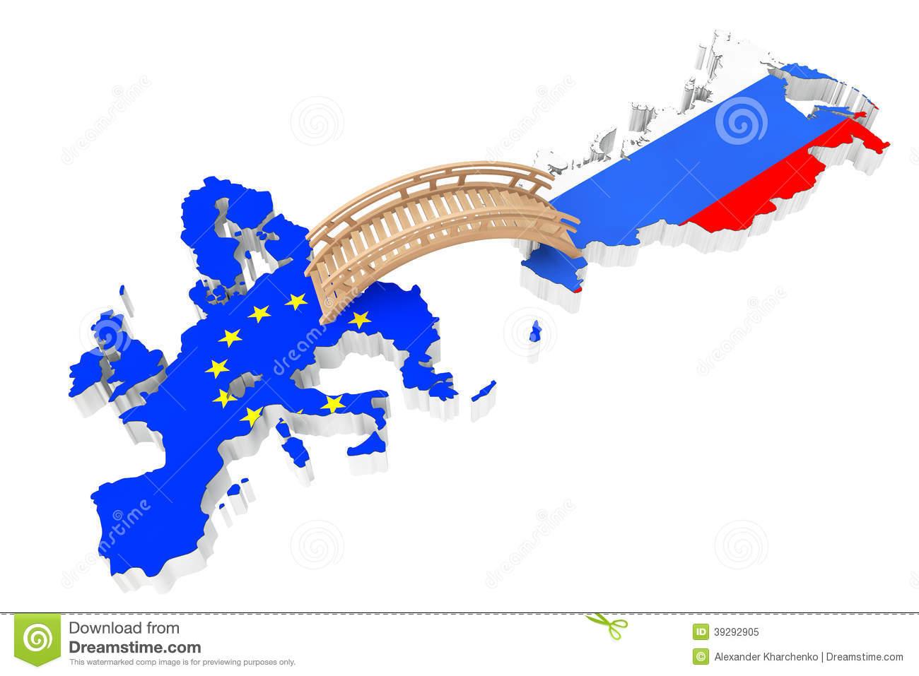 Bridge Between Europe And Russia Stock Photo.