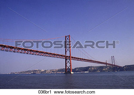 Stock Photography of April, Lisbon, EUROPE, Bridge, 25th 036br1.