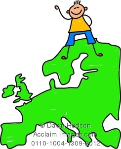 Clipart map of europe.