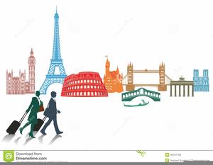 European Landmarks Clipart.
