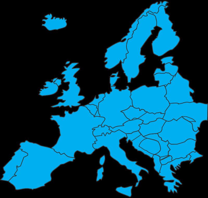 Free Clipart: European map.