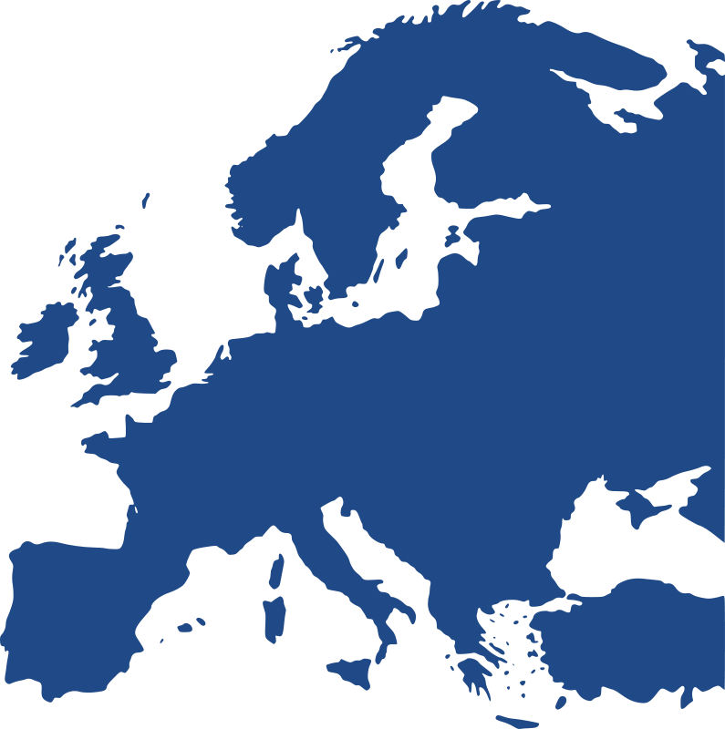Free Clipart: Map of Europe (equidistant).