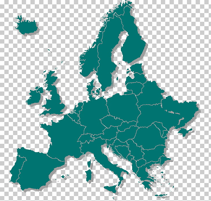 Europe Map, map PNG clipart.