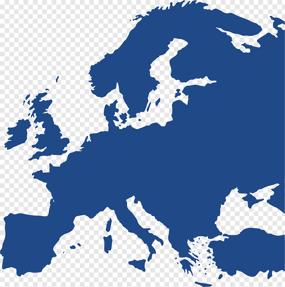 Blue map, Europe Blank map Black and white World map, europe.