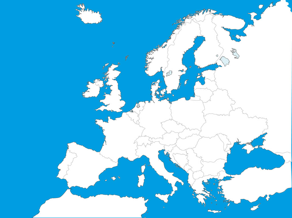 Map Of Europe Template Vector Art & Graphics.