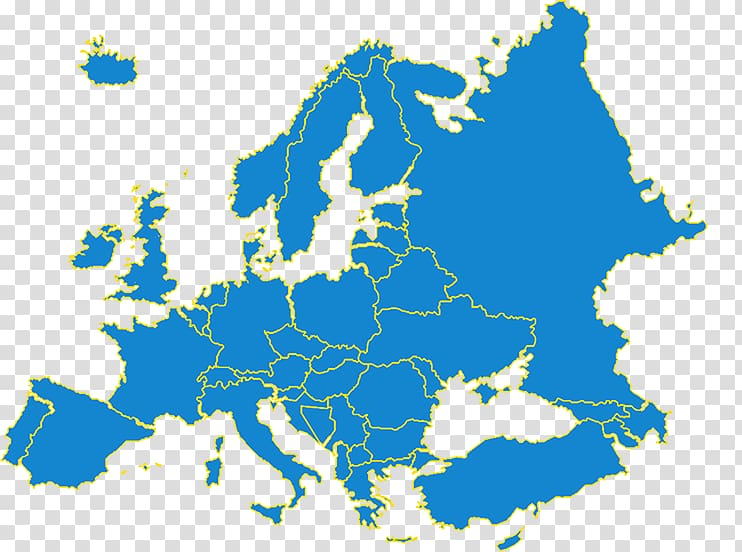 Europe Map, map transparent background PNG clipart.