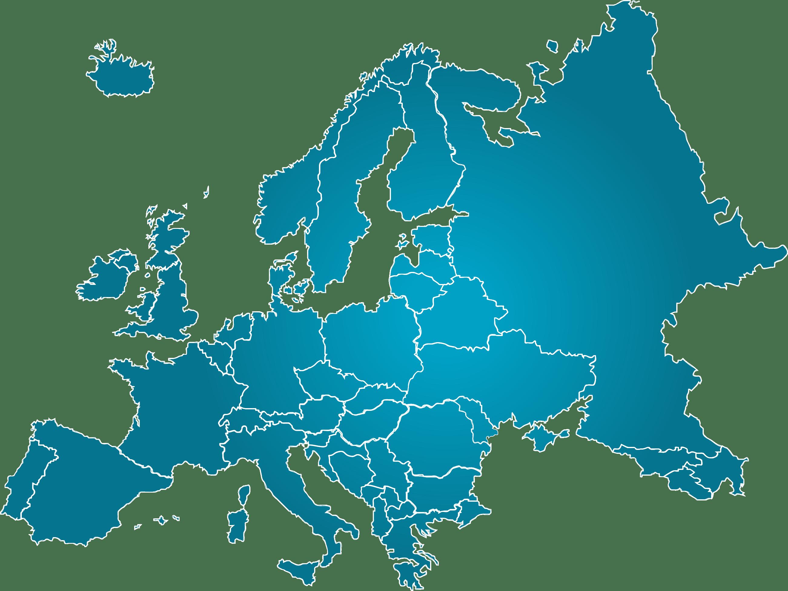Europe Map transparent PNG.