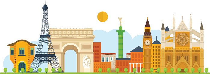 Europe travel clipart - Clipground