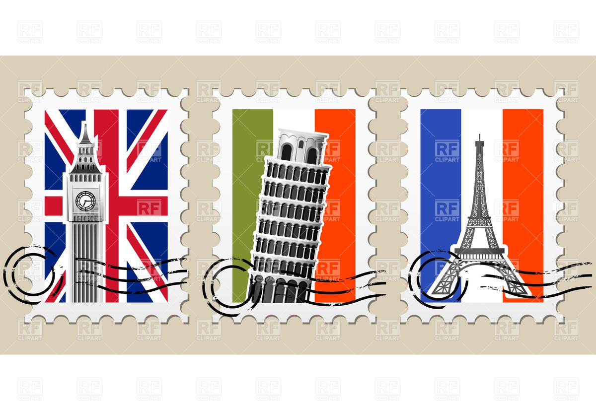 European travel clipart.