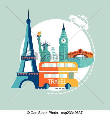 Vectors of Travel Europe illustrations csp23349637.